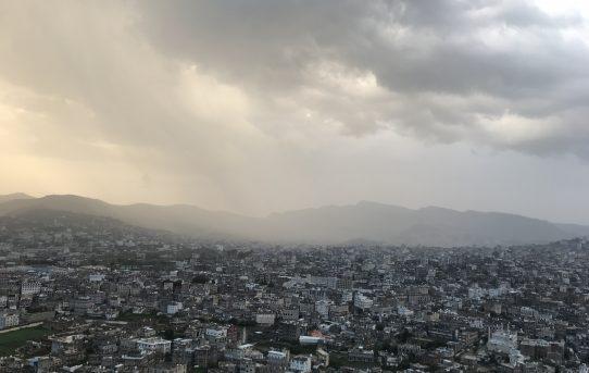 صور رائعة لمدينة أب بعد المطر - من بعدان